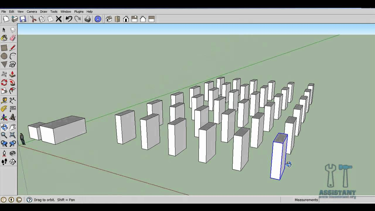 Google SketchUp - Tutorial 4 - Componente, Grupuri, Array