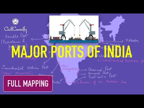 PORTS of India | Full Mapping Practice along with Importance to India