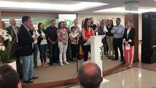 Intervención de Noelia Maria Lozano en el mitin de Vox Baza - 2019