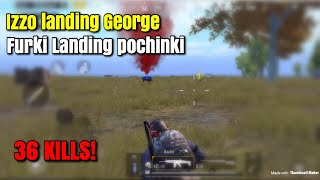 IZZO And FURKI Landing Different Places - PUBG Mobile - Two Man Squad!