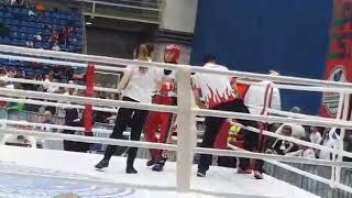Kickboks Dünya kupası şampiyonası  Hayriye Türksoy  Antrenör Ramazan yavuz ve Gamze hoca Türk Milli