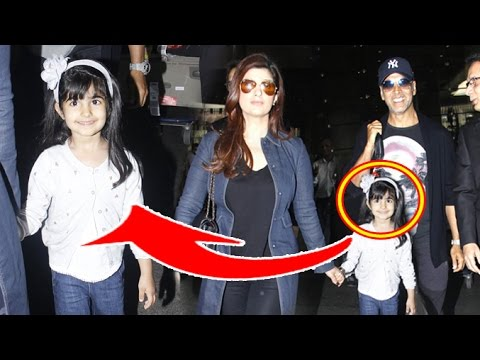 Akshay Kumar CUTE Daughter Nitara & Wife Twinkle Khanna ...