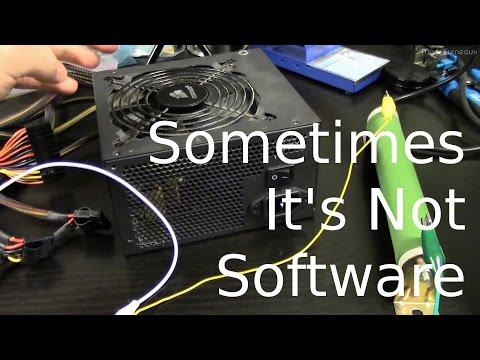 Failing Computer Power Supply Causing Crashes - YouTube