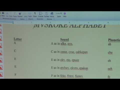 Beginning the Mvskoke Language- Nelson Harjo Sr.
