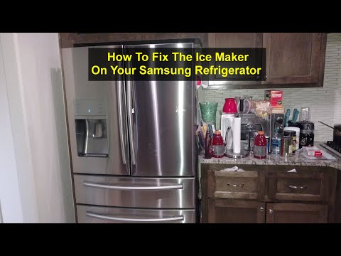 How to fix the ice maker on your Samsung side by side refrigerator, for free. - VOTD