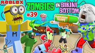ROBLOX SPONGEBOB SQUAREPANTS Land of Terror! ZOMBIESKINI BOTTOM!  FGTEEV #39 Nickelodeon Slime Fun!