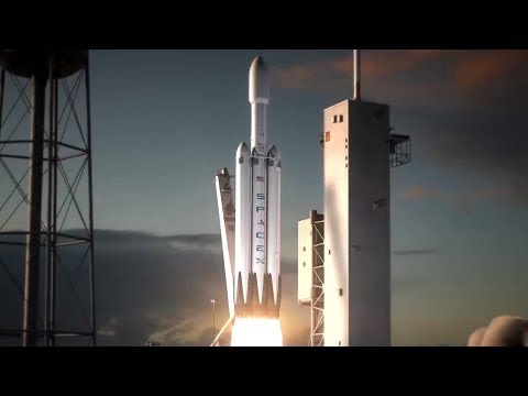 LIVE Space X Falcon Heavy Tesla Roadster Testflight And Commentary