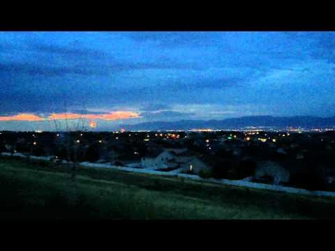 Neighborhood fireworks in the Salt Lake Valley