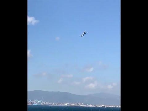 As bruscas manobras dun avión que tentaba aterrar en Xibraltar