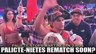 PALICTE CALLS OUT NIETES AFTER STOPPING MARTINEZ IN RD 2