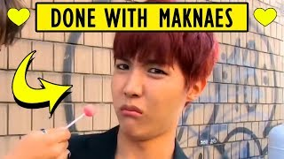 BTS WHEN HYUNGS ARE SO DONE WITH MAKNAES