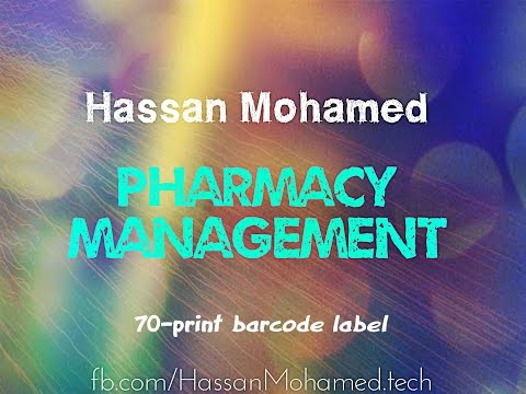 70-Pharmacy Management Project(Print Barcode Label)