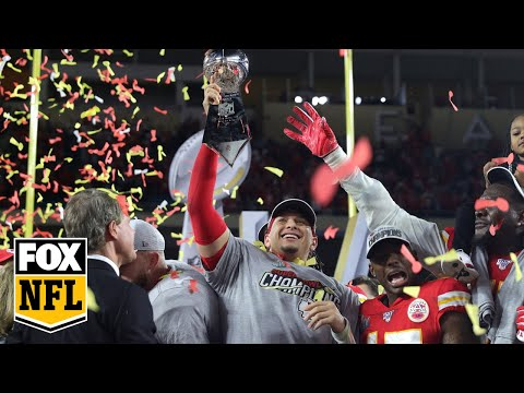 Watch The Kansas City Chiefs Lift The Lombardi Trophy After Their Super Bowl LIV Win | FOX NFL