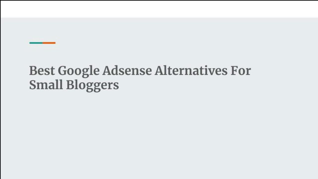 Best Google Adsense Alternatives For New Bloggers 2018 Youtube