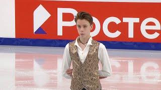 Егор Рухин Короткая программа Юноши Первенство России по фигурному катанию 2021