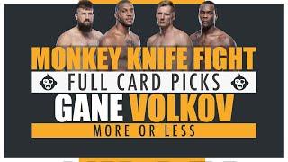 UFC Vegas 30: Gane vs. Volkov Monkey Knife Fight Picks | More or Less | DFS