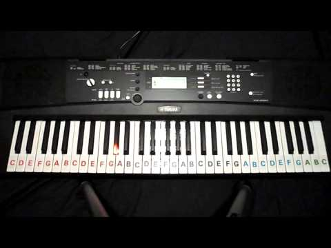 NOCTURNE OP.9-2 ABCDEFG NOTES ON LIGHT UP YAMAHA KEYBOARD DEMO