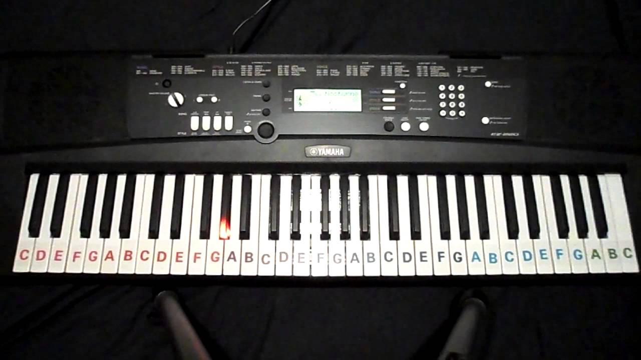 Yamaha Piano Light Up Keys