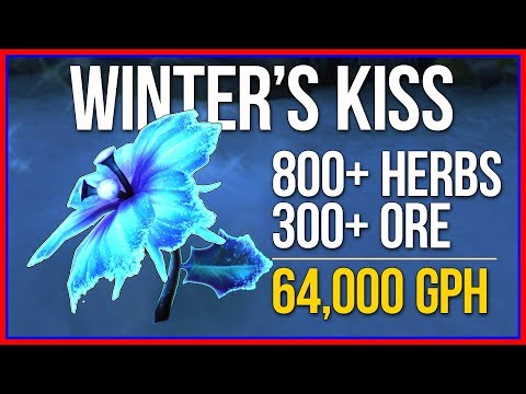 64,000 Gold/Hour | WINTER'S KISS FARMING | BFA Herbalism Guide from YouTube · Duration:  9 minutes 30 seconds