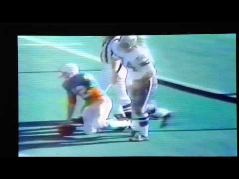 Super Bowl 6 Bob Lilly sacks Griese for 30yd loss