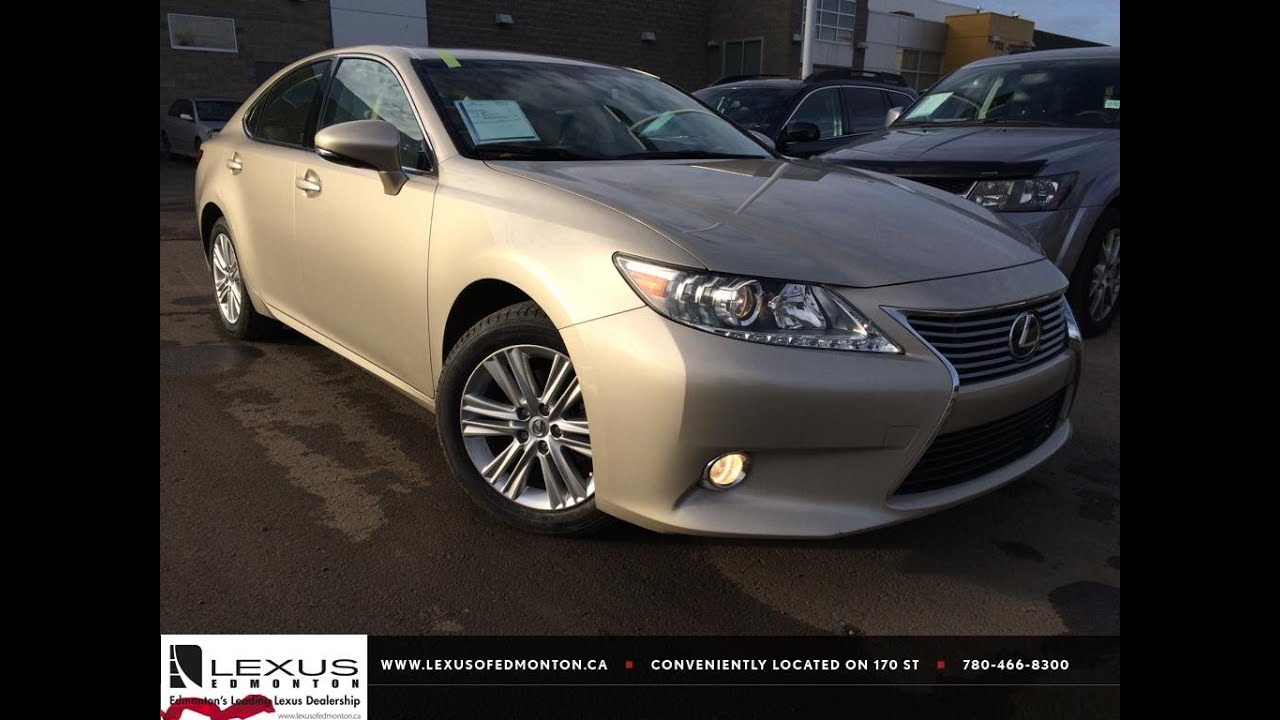 Lexus Certified Pre Owned >> Lexus Certified Pre Owned Gold 2013 ES 350 Premium Package Review | St. Albert Alberta - YouTube