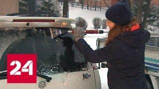 В Приморье сильный снегопад привел к массовым авариям - Россия 24