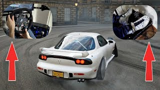 Forza Horizon 4 - Mazda RX-7 FD Drifting with Fanatec Steering Wheel & Pedal Gameplay!