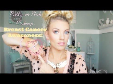 ❤ Pretty In Pink Makeup: Breast Cancer Awareness ❤ - YouTube