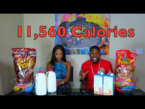 Giant Bowl Of Cereal Challenge (11,560 CALORIES)