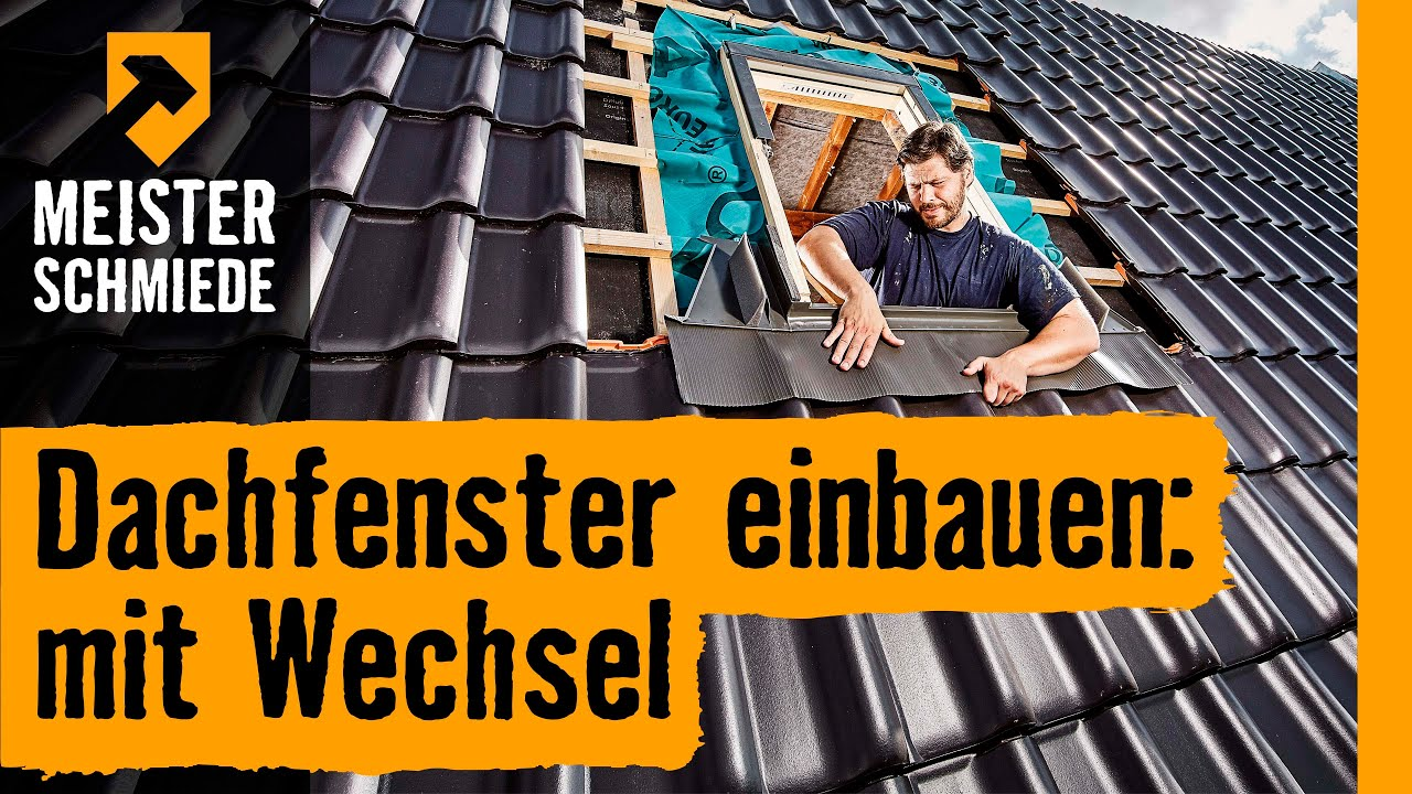 dachfenster einbauen mit wechsel hornbach meisterschmiede youtube. Black Bedroom Furniture Sets. Home Design Ideas