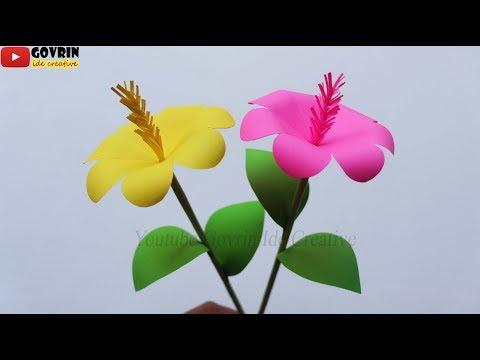 DIY Paper Flowers Wall Hanging - Cara Membuat Bunga dari Kertas Origami | Kerajinan Bunga