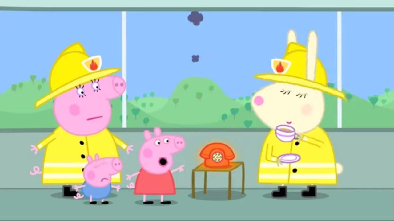 Peppa Pig Português Brasil 🚒 Resgate de Caminhão de Bombeiros 🚒 Desenhos Animados