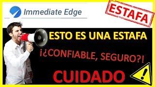 Gambar cover Immediate Edge ⛔ NO es seguro ⛔ - ¡Opiniones de 2019!