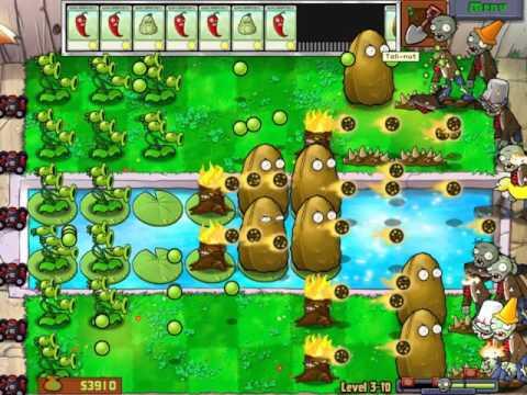 Gameplay-Plants Vs Zombies Level 3-10
