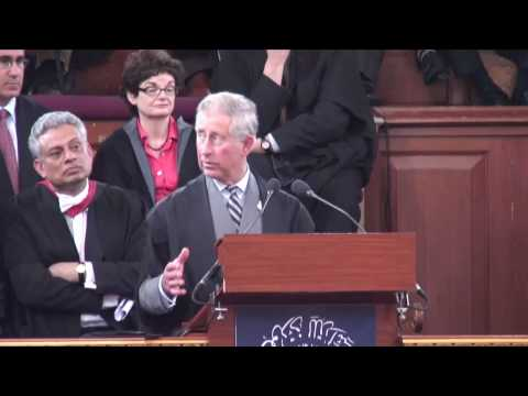 The Prince of Wales makes a speech titled: Islam and the Environment