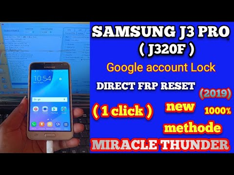 Samsung j3 pro ( j320f ) frp Reset miracle carak 1click