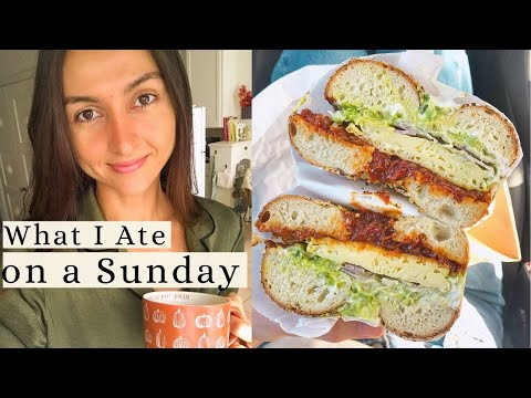 What I Eat in a Day VEGAN 🥯🌱 Bagel Breakfast Sandwiches + Deliciously Ella Recipe