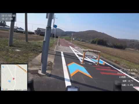 サイクリング つくばりんりんロード2017春 岩瀬→土浦 ほぼノーカット 走行日2945 40km