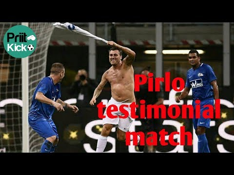 Andre Pirlo testimonial, Blue Stars 7 vs 7 White Stars (