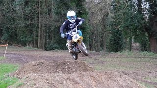 Back Yard Honda CRF 50 Minibike Track -Pit Bike-Attack Of The Fiddies