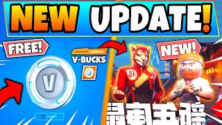 FREE V BUCKS & LUNAR NEW YEAR EVENT in Fortnite! New Update in Battle Royale!
