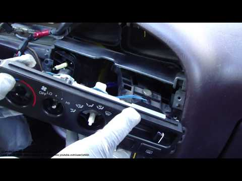 How To Replace Toyota Camry Temperature Control Knob Console And Dashboard