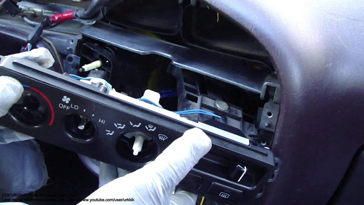 how to replace toyota camry temperature control knob console and dashboard [ 1920 x 1080 Pixel ]