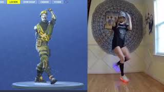 FORTNITE ORIGINAL ORANGE JUSTICE EMOTE IN REAL LIFE 100% IN SYNC!