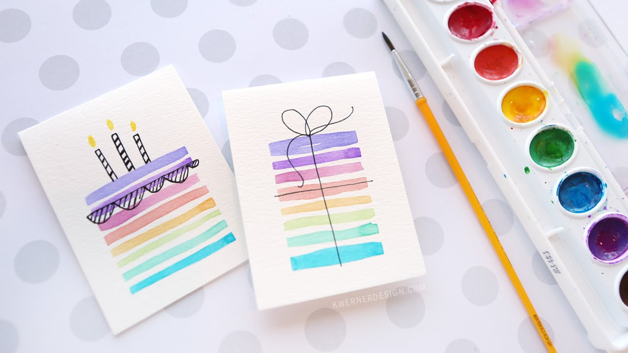 Easy diy birthday cards using minimal supplies youtube bookmarktalkfo