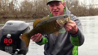 3B Outdoors TV - River Fishing for BIG Smallmouth Bass, Jet Boat Style