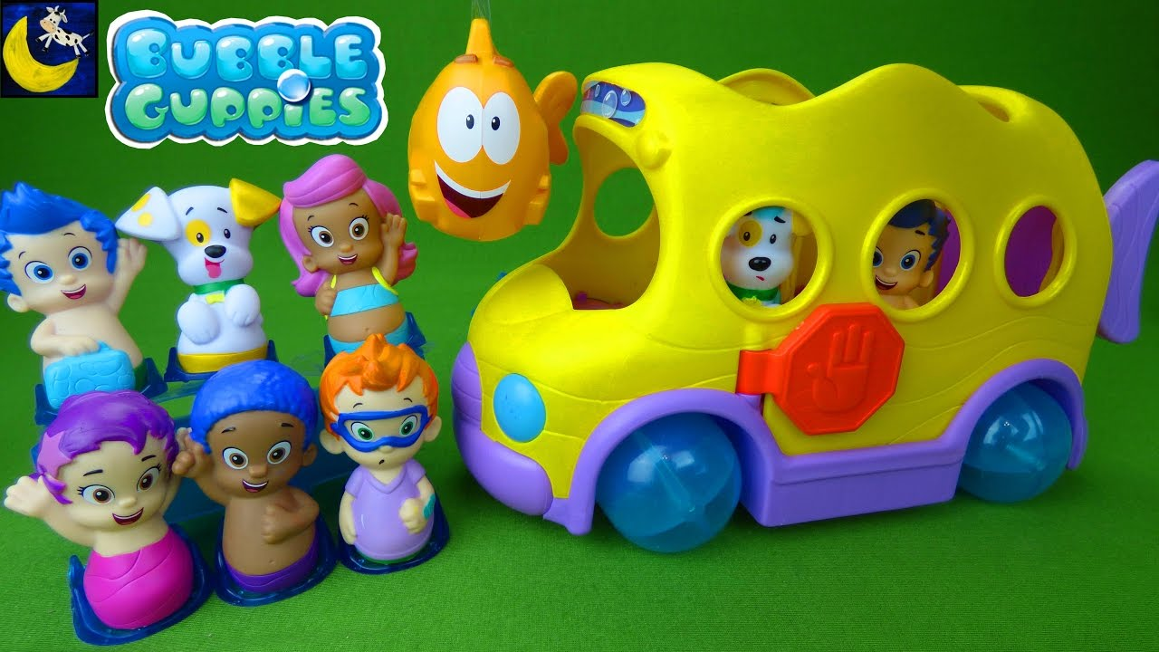bubble guppies toys swimsational bus u0026 check up center gil