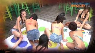 Eleven hot babes twisting their bodies around one another - just to...