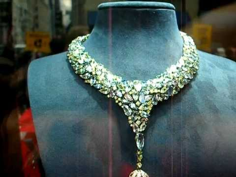 Millions Of Dollars of Diamonds, New York Window Displays , Gem Stones and Gold