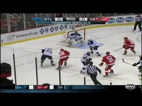 Blues @ Wings 2/1/13 (Game Highlights - Detroit Feed)